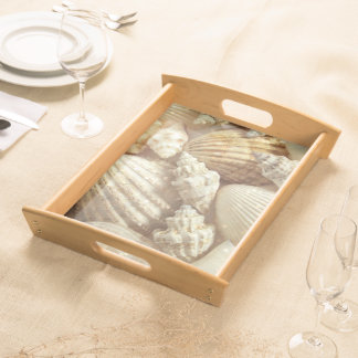 Beach Shells Still Life Serving Tray
