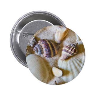 Beach Shells Theme #2 2 Inch Round Button