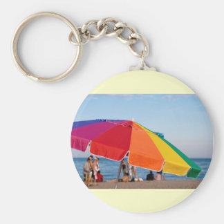 beach shelter basic round button keychain
