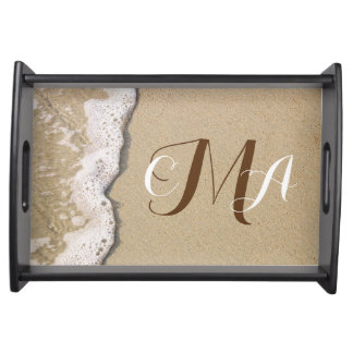 Beach Shore Monogrammed Serving Tray