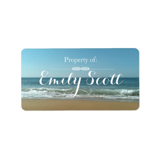 Beach Shore Name Labels