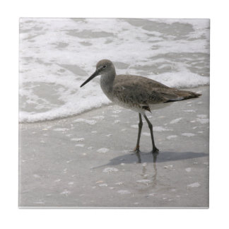 Beach Shorebirds Ceramic Tile Trivet
