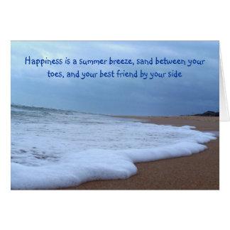 Beach Shoreline Photograph Card