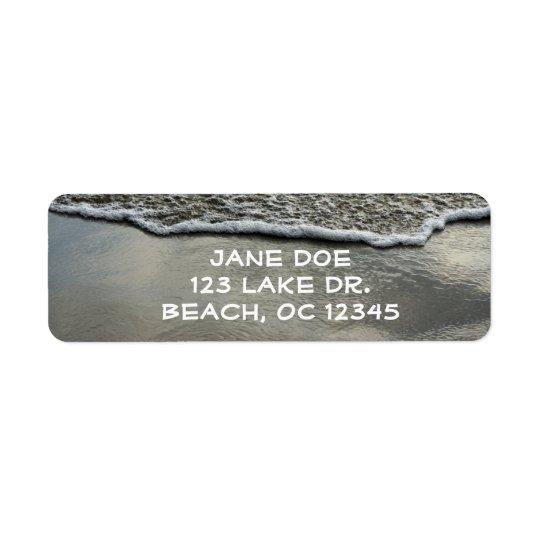 Beach Shoreline Return Label