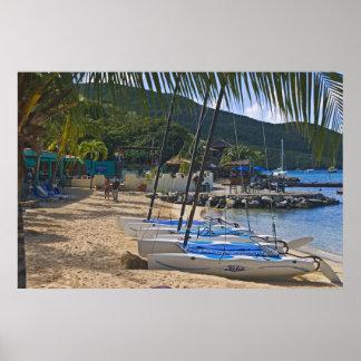 Beach side at Leverick Bay Resort & Marina, Poster