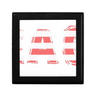 Beach Sign - stripes Gift Box