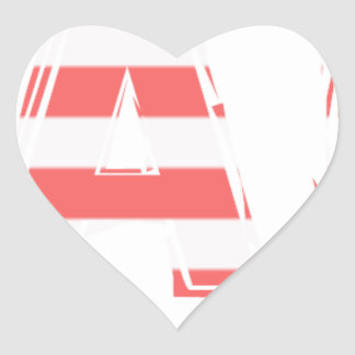 Beach Sign - stripes Heart Sticker