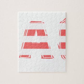 Beach Sign - stripes Jigsaw Puzzle