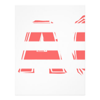 Beach Sign - stripes Letterhead
