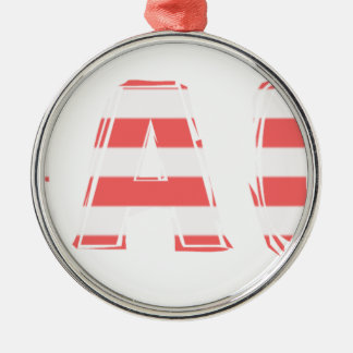 Beach Sign - stripes Metal Ornament