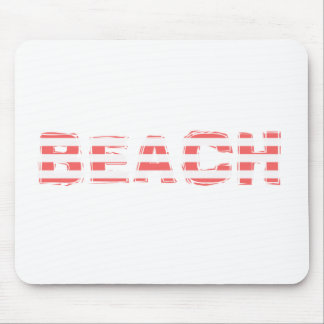 Beach Sign - stripes Mouse Pad
