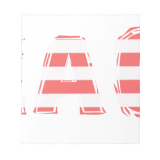 Beach Sign - stripes Notepad