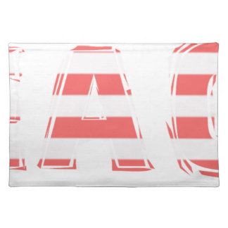 Beach Sign - stripes Placemat