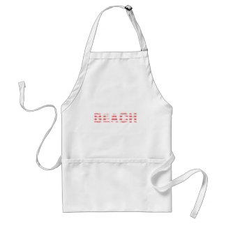 Beach Sign - stripes Standard Apron