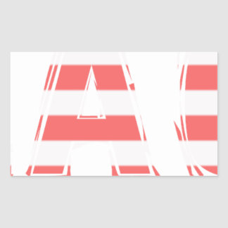 Beach Sign - stripes Sticker