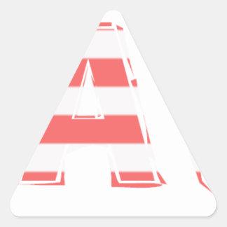 Beach Sign - stripes Triangle Sticker