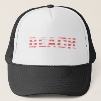 Beach Sign - stripes Trucker Hat
