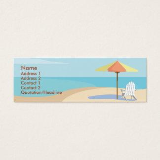 Beach - Skinny Mini Business Card