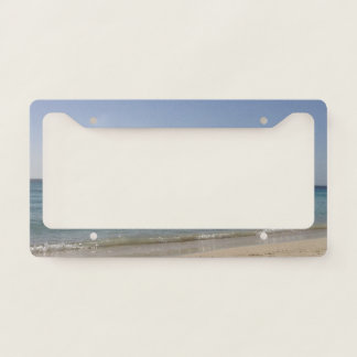Beach Sky Sandy License Plate Frame