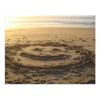 Beach Smile Sunset Postcard