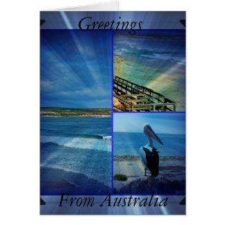 Beach_Sparkle_Collage_Small_Birthday_Greeting_Card Card