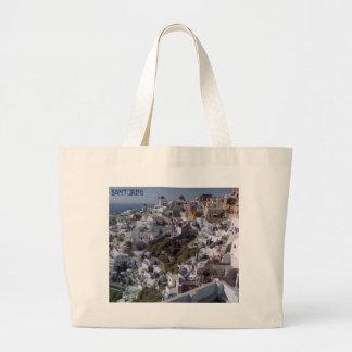Beach & Sports Bag with Santorini View