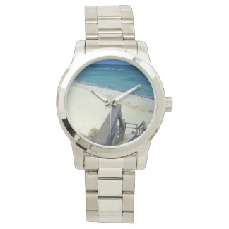 Beach Steps To Golden Sands, Large Unisex Watch