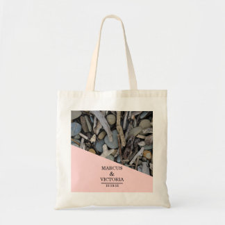 Beach Stones Driftwood Wedding Tote Bag