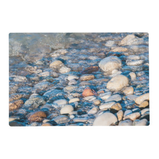 Beach stones on the lake shore laminated placemat