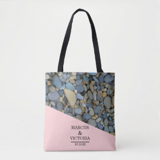 Beach Stones Pebbles Wedding Tote Bag