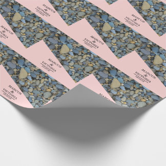 Beach Stones Pebbles Wedding Wrapping Paper