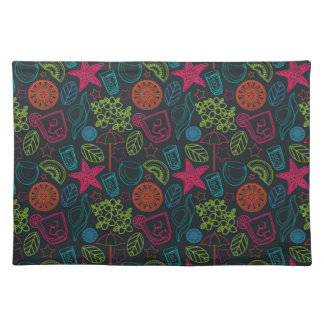 Beach style design for hot summer days with fruit placemat