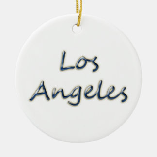 Beach Style Los Angeles - On White Ceramic Ornament