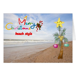 """""""BEACH STYLE"""" MERRY CHRISTMAS TO YOU CARD"""