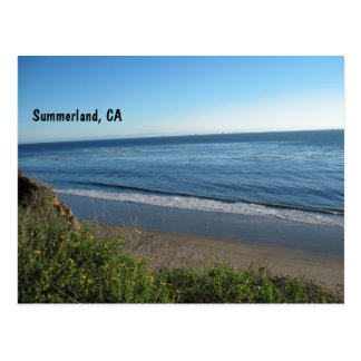 Beach, Summerland, California Postcard