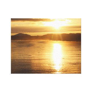 Beach Sun Glare Canvas Print