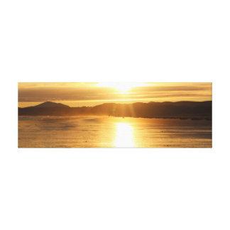 Beach Sun Glare Wide Aspect Canvas Print