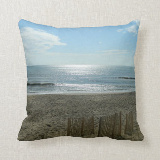 Beach Sun Rising Throw Pillow
