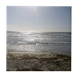Beach Sunrise Ceramic Tile