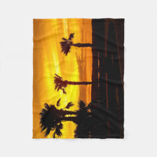 Beach sunrise fleece blanket