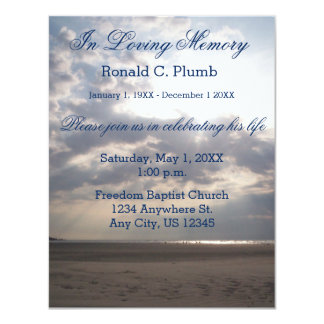 Beach Sunrise | Funeral | Memorial Service Card