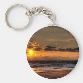 Beach Sunrise Key Chains