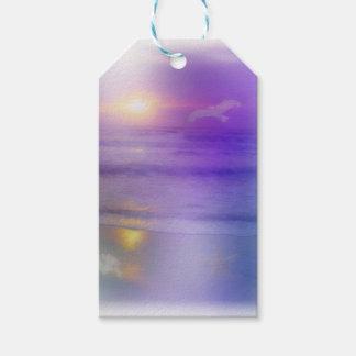 Beach Sunrise Lavender Peach seagull ocean tags Pack Of Gift Tags