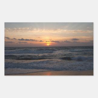 Beach sunrise sticker