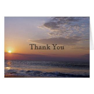 Beach Sunrise Thank you Card