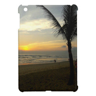 Beach Sunrise with Palm Tree iPad Case