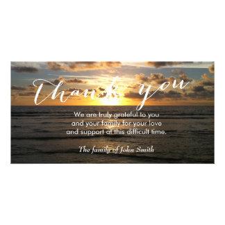 Beach Sunset After Funeral Memorial Thank You Card
