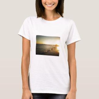 Beach Sunset at Coney Island, Brooklyn T-Shirt