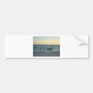 Beach Sunset Bumper Stickers