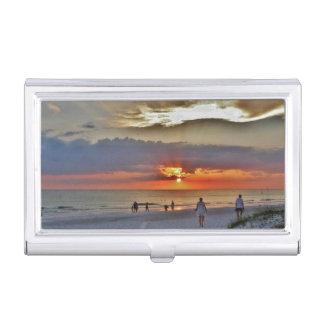 Beach Sunset Business Card Holder